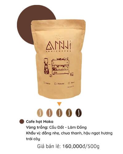 Cà phê hạt Moka anni coffee